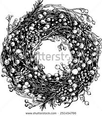 coloring dazzling drawing wreath coloring drawing