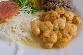 creole cuisine cuban traditional creole cuisine dish of shrimps stock image