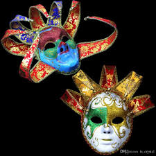 italian masquerade masks italy venetian masquerade mask bright color 5 horn 7