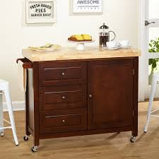 kitchen island overstock rubberwood kitchen island cart free shipping today