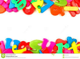 double border of toy magnetic letters stock photo image 57041915