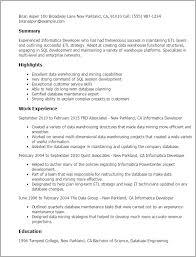 etl developer resume professional informatica developer templates to showcase your