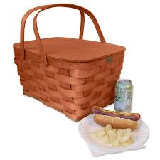 picnic basket for 4 basket co honey color empty family picnic basket for 4