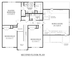 the carver plan 2304 second floor plans traditional two story