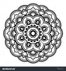 Tattoo Home Decor Indian Henna Tattoo Pattern Or Background Mehndi Design стоковая