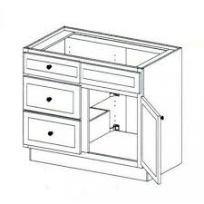 DRAWERS LEFT  Online VANITY SINK BASE CABINET WITH  DRAWERS - 21 inch white base cabinet