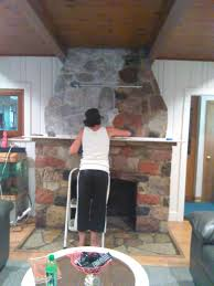 how to white wash your stone fireplace decorating pinterest