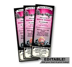 movie night invitations template 14 ticket template free psd ai vector eps format download