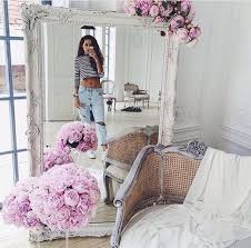 home decor tumblr home accessory white mirror flowers tumblr home decor home