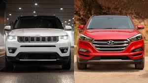 jeep tucson 2018 jeep compass vs 2017 hyundai tucson youtube