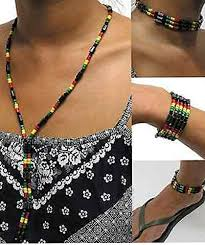 bead necklace style images Bunfires african beads jamaican rasta style beaded jpg