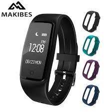 heart monitoring bracelet images Makibes s1 smart bracelet ip67 waterproof heart rate monitor jpg
