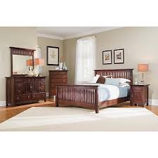 Arts  Crafts Chocolate Finish PC Queen Bedroom Package - Arts and craft bedroom furniture