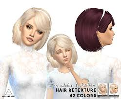 child bob haircut sims 4 miss paraply maysims 46 hairstyle retextured sims 4 hairs