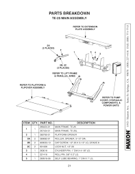 maxon te 25 u0026 te 25l series liftgate by the liftgate parts co issuu