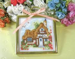 Country Cottage Cross Stitch Tudor Cottage Etsy