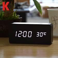 atomic desk clock plus white led digital numbers and themperature