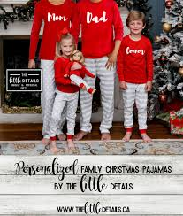 family christmas pajamas u2013 details