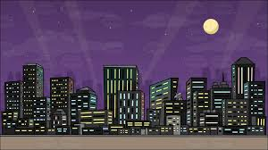 city backdrop a wolfhound pet dog with a view of the city at