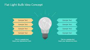 Flat Light Bulb Light Bulb Graphic Concept For Powerpoint Slidemodel