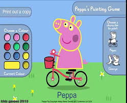 peppa pig coloring peppa pig game peppa pig kids