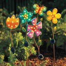 yard solar lighted stake summer garden decoration peacock lawn