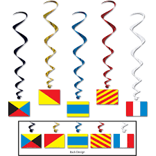 nautical flags decorative idea for nautical theme