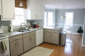 yellow and grey kitchen ideas gray kitchen walls brown cabinets kitchen decoration