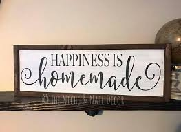 signs home decor happiness is wood sign home decor rustic home decor