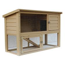 Large Rabbit Hutch Trixie 2 Story Rabbit Hutch With Attic Large Hayneedle