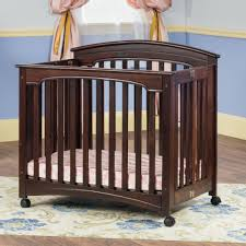 Mini Crib With Wheels Breathtaking Baby Cribs With Wheels Photo Design Inspiration