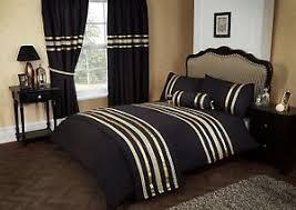 Beautiful Duvet Covers Black U0026 Gold Colour Stylish Lace Diamante Duvet Cover Luxury