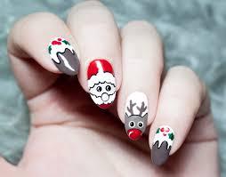 merry christmas nail art tina tech