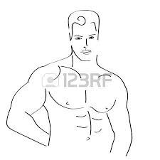 hand drawn fashion model illustration man face royalty free