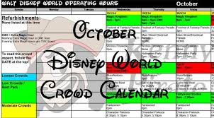 october walt disney world park hours updated kennythepirate