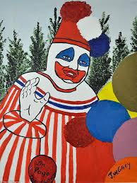 j w gacy u0027s chilling paintings of clowns go up for auction daily
