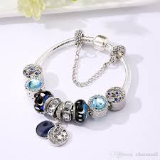 rhinestone bracelet charms images New design rhinestone unique trends bracelet blue moon star charm jpg
