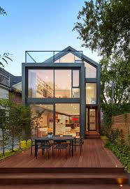 narrow homes situated on a narrow lot in an toronto the sky garden house
