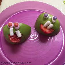 Monsters For Halloween by How To Make Apple Head Monsters For Halloween Gleeful Grandiva