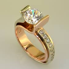 gold diamond engagement rings gold and white gold diamond engagement ring plymouth mn