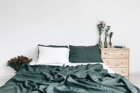 emerald linen bedding set linen duvet cover and 2 pillow