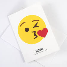 champagne emoticon personalised kiss emoji card by of life u0026 lemons