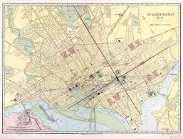 Maps Dc Large Scale Old Map Of Washington D C With Roads 1910