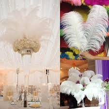 Centerpiece With Feathers by Diy Ostrich Feathers Plume Centerpiece For Wedding Party Table