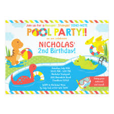 pool invitations announcements zazzle
