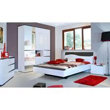 chambre 180x200 vision lit 180 x 200 laqué blanc décor gris foncé achat vente