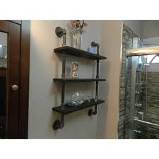 industrial look shelves 3 tier industrial look shelf retro