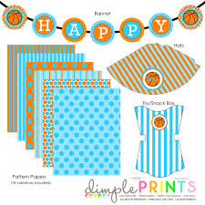 printable confirmation invitations basketball deluxe printable party package dimple prints shop