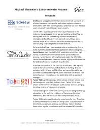 Resume Other Activities What To Put In Extra Curricular Activities In A Resume Free