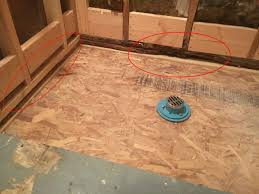 Preparing A Shower Floor For Tile by Are You Ready Mop Shower Pan Installation Mop Prep